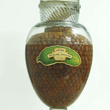 Fancy Display jar with product, c. 1915