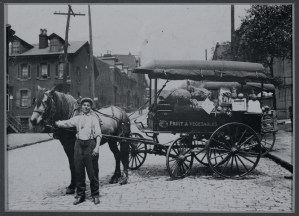 ALT:Giovanni Crisanti and his produce wagon, 1917
