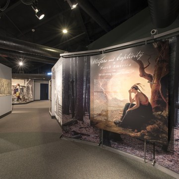 """""""An Old Strong Law and Custom,"""" Captured by Indians, Fort Pitt Museum"""