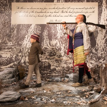 The Capture of John Brickell, Captured by Indians, Fort Pitt Museum