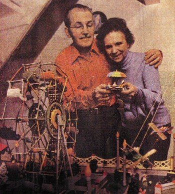 Frank Salisbury and his miniature amusement park.