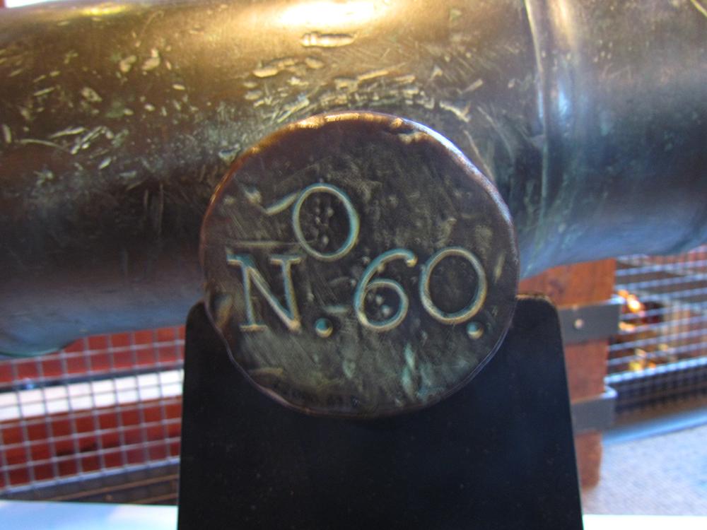 Trunion, Original 18th Century Cannon