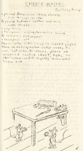 """Anticipating Mollie Katzen's hand-drawn """"Moosewood"""" cookbook by 20 years, Monongahela's Fine Arts Club shared their favorite recipes in 1955."""