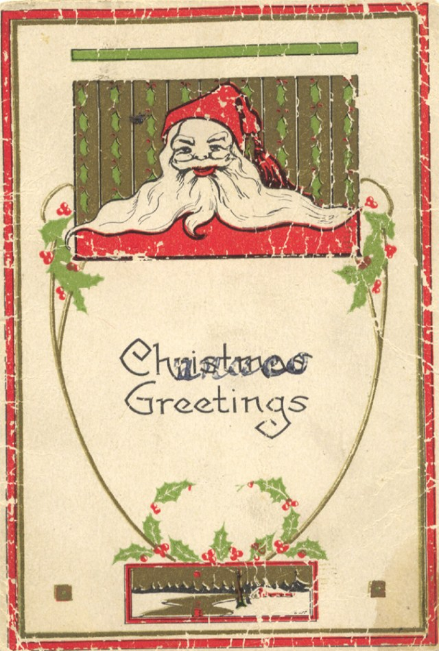 Reingold Hanukkah card, front. Reingold Family Papers, Rauh Jewish History Program & Archives at the Heinz History Center.