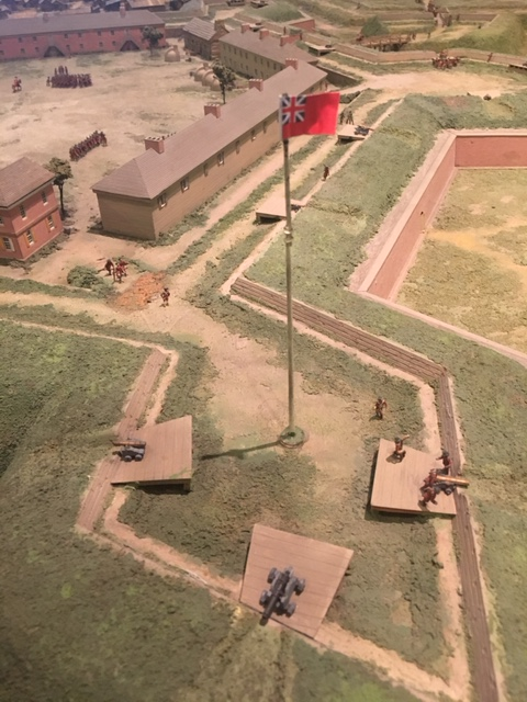Fort Pitt's flag bastion before cleaning.