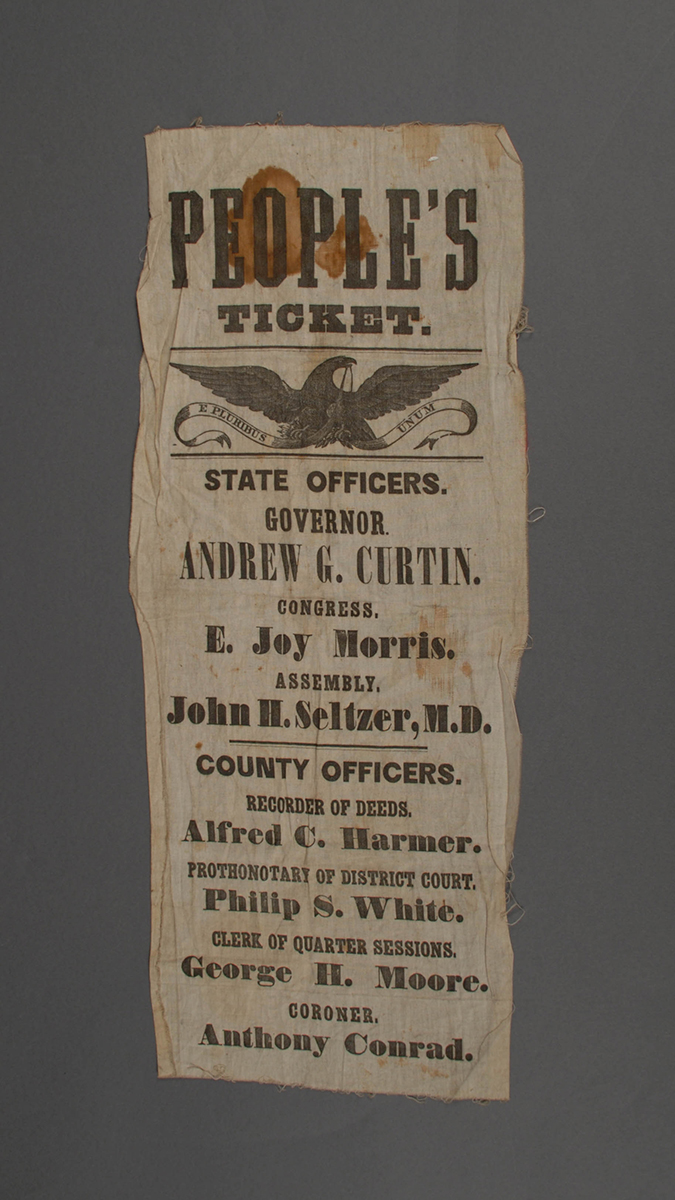 "Andrew Curtin as the ""People's Party"" candidate in 1860 