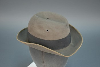 Hat shot during Northside armed robbery, 1921.   Uncovering Crime: Documenting Pittsburgh's Criminal Past   Heinz History Center