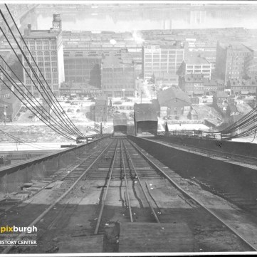 Looking down the 17th Street Incline at Penn Avenue, c. 1940. | pixburgh: a photographic experience, Heinz History Center