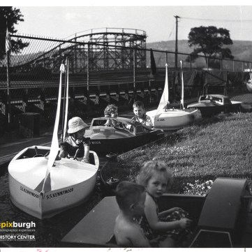 Kiddie boats at Kennywood, 1960s. | pixburgh: a photographic experience, Heinz History Center