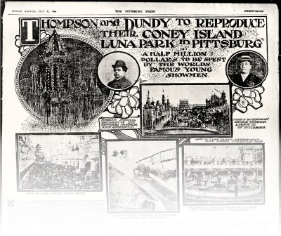 Luna Park announcement, 1904 | Heinz History Center