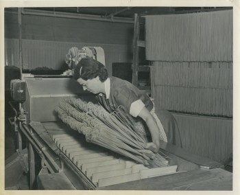 During WWII, Vimco Pasta was the largest macaroni provider for the U.S. armed forces and supplied Italy with pasta during its rehabilitation post-war. Gift of Rose Viviano Schneider.