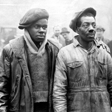 """Mack Moore and Frank Richardson, members of Father Cox's """"Army,"""" 1931 