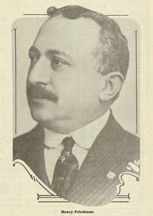 Henry Friedman (1870-1934) came to McKeesport in 1899, after a decade in New York City and Philadelphia. He became a leading member of the Jewish community and a respected figure in the local business community. Jewish Criterion, March 2, 1928, page 22, Pittsburgh Jewish Newspaper Project.