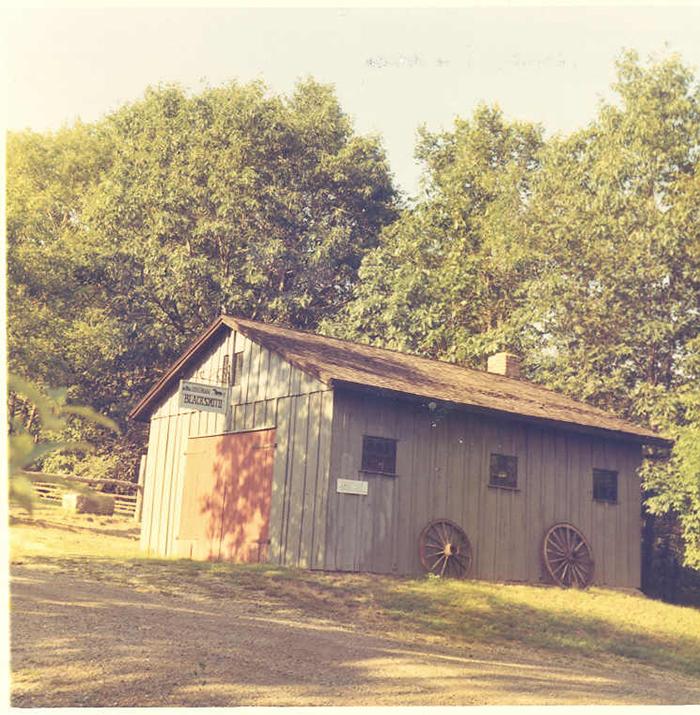 Blacksmith forge, Aug. 18, 1968.