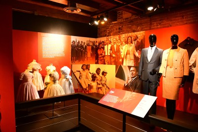 Selma costumes in the Heroes & Sheroes exhibit at the Heinz History Center.