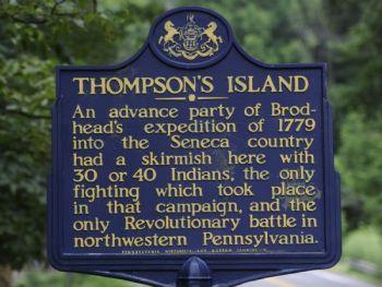 Thompson's Island sign