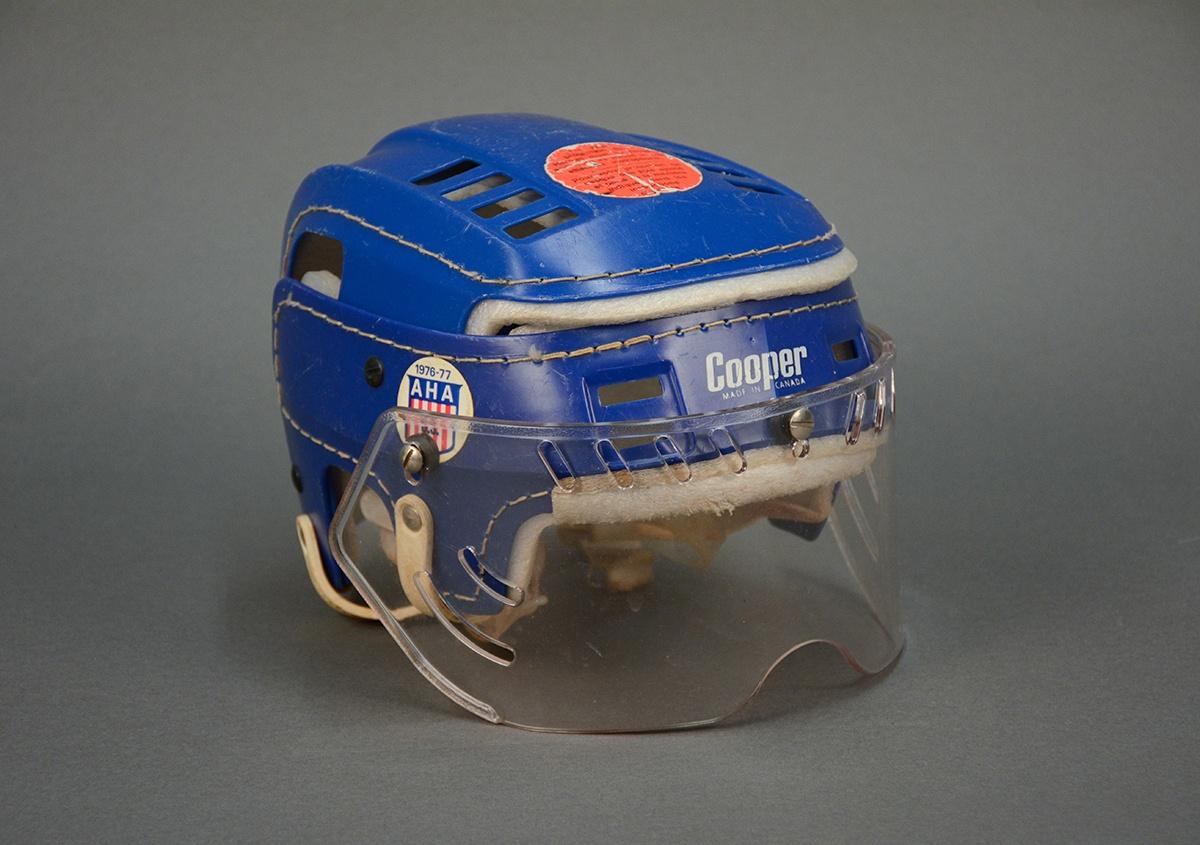 Pittsburgh Pennies ice hockey helmet, 1970s
