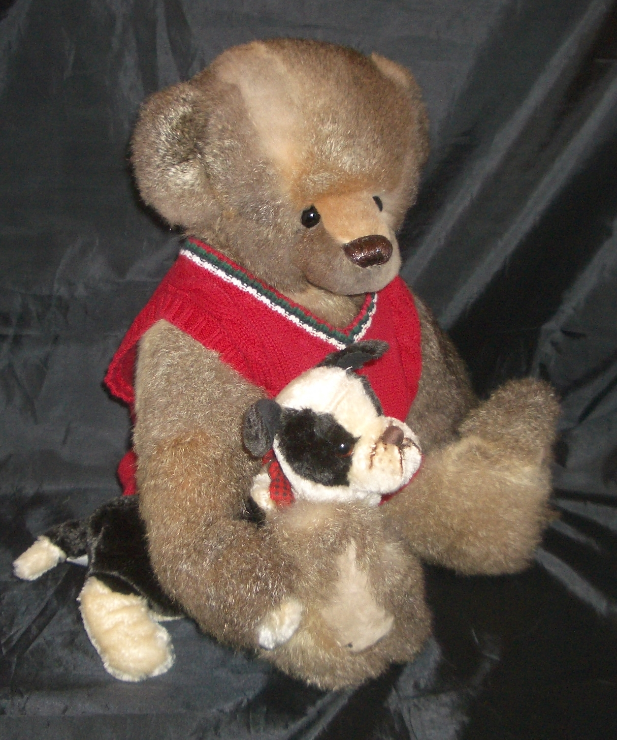 Paw Knit Gray Tall Bear