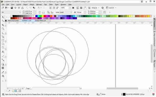 pola atau sketsa membuat logo di coreldraw