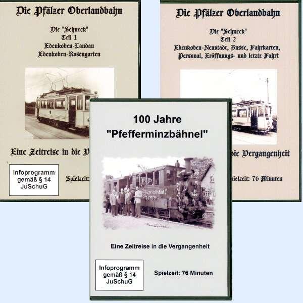 """Bundle 2 - 2 DVDs von der """"Schneck"""" + DVD """"Pfefferminzbähnel"""" - Pfälter Oberlandbahn"""