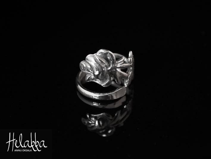 Helakka lusikkasormus ruusu
