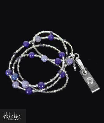 Helakka avainnauha violetti akaatti