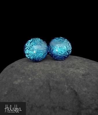 teräskorvakorut lasista Helakka siniturkoosi
