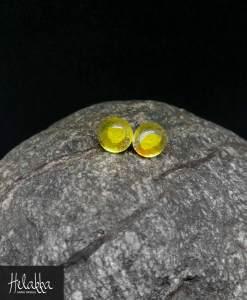 Helakka lasikorvakorut keltainen