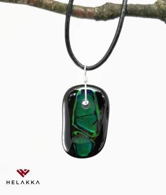 Helakka kaulakoru vihrea