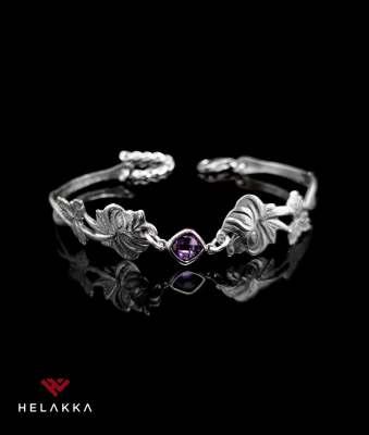 Helakka ruusu rannekoru violetti