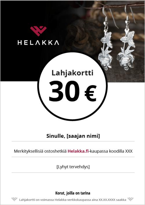 Helakka lahjakortti 30 €