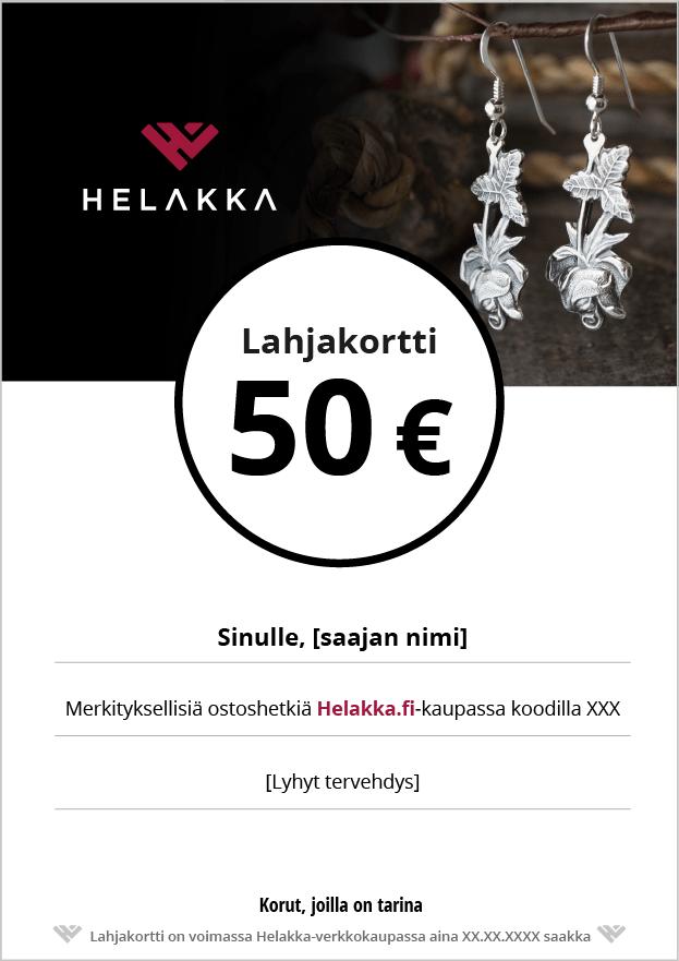 Helakka lahjakortti 50 €