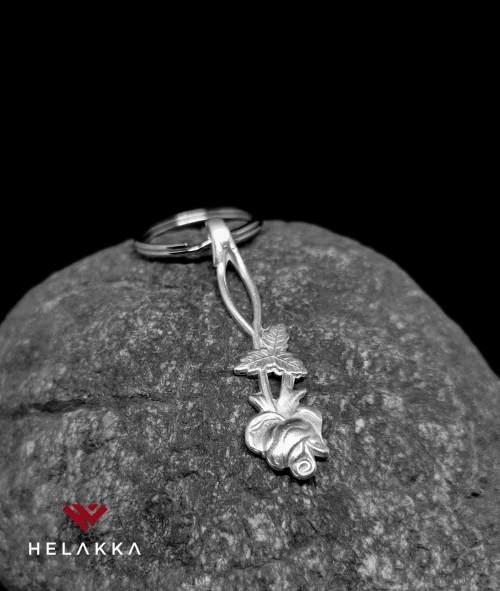 Helakka lusikka avaimenperä ruusu