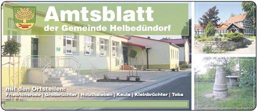 Helbebote - Amtsblatt Helbedündorf online