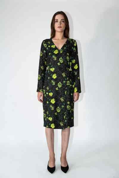 dress daisy green flowers