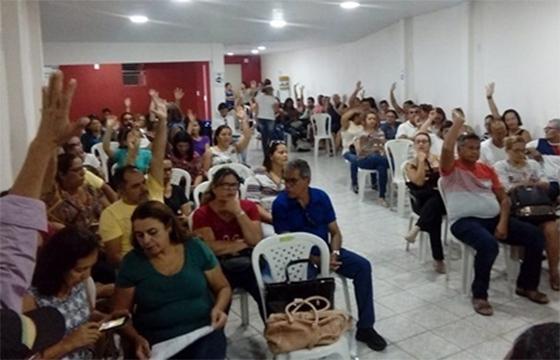 Santa Rita professores sinalizam greve fev2018