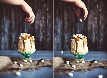hon bakade en tårta