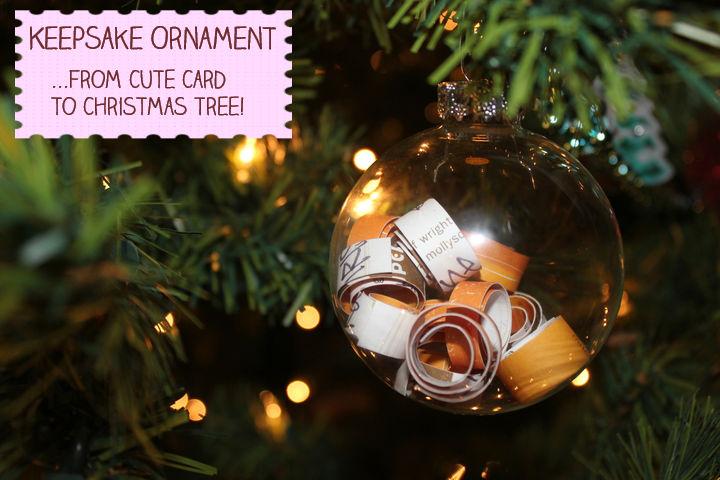 Christmas Ornament with Keepsake Card Inside