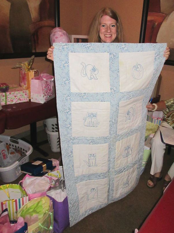 With Cat Quilt