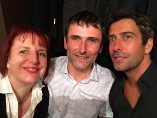 Avec Olivier Bertin, Londres