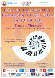 FDLM 2016 affiche officielle A3