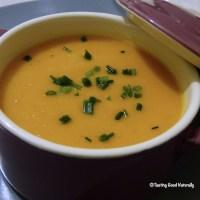 Soupe au potimarron et lait de coco - Végétalien -