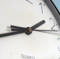 Clock with blurred second hand