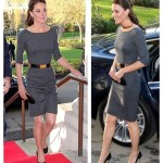 Wear Grey Like a Princess–Kate Middleton and Her Amanda Wakeley Dress