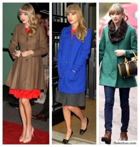 Colorful Winter Coats: Taylor Swift