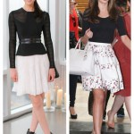 Summer Flare: Black Top & White Skirt