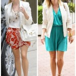 Fresh Summer Looks: White Blazer & Colorful Dress
