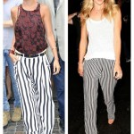 European Chic: Striped Wide Leg Pants