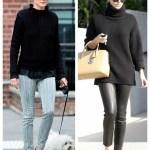Tomboy Chic: Turtleneck Sweater & Menswear Oxford