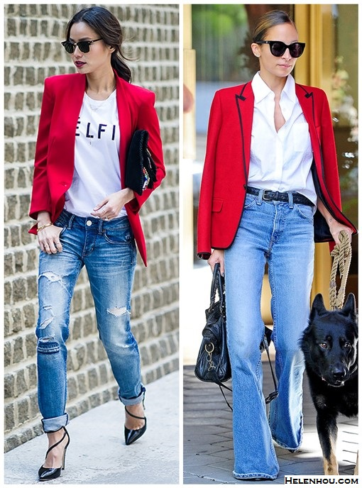 Red Blazer, Two Ways \u2013 Helen\u0027s Life \u0026 Style